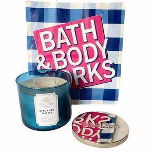 Bath & Body Works Bergamot Waters 3 wick Candle